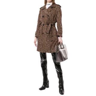 Louis Vuitton Leopard Print Trench Coat