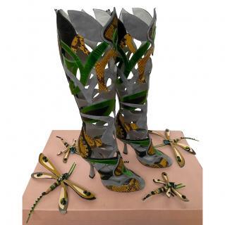 Miu Miu Collectors Runway Dragonfly Laser Cut Boots
