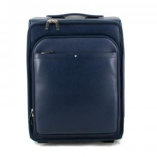Mont Blanc navy leather Sartorial suitcase