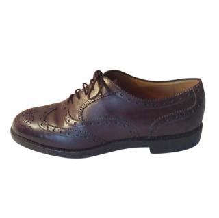 Bally brown leather brogues