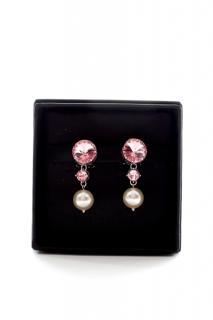 Miu Miu silver-tone, faux pearl & pink crystal clip-on earrings