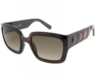 Christian Dior brown ombre effect square sunglasses
