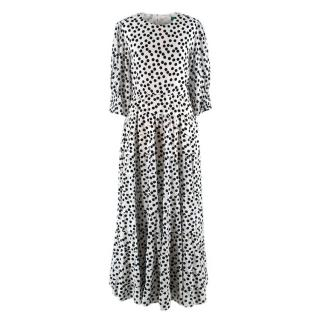 Rixo Polka Dot Tie Back Agyness Dress