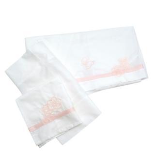 La Perla Sustainable Cotton Embroidered Baby Bedding Set