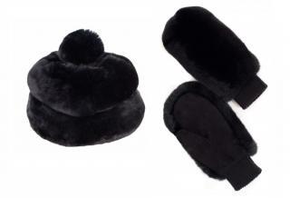 FurbySD Black Chinchilla Fur Hat & Gloves