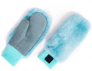 FurbySD Blue Chinchilla Fur Mittens