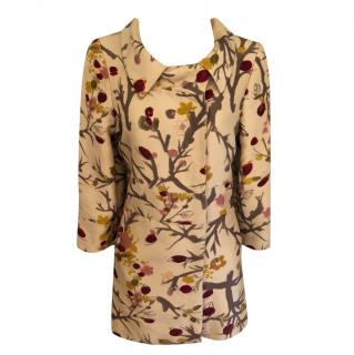 Marni floral silk & wool blend short coat