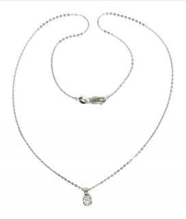 Bespoke 18ct white gold diamond necklace
