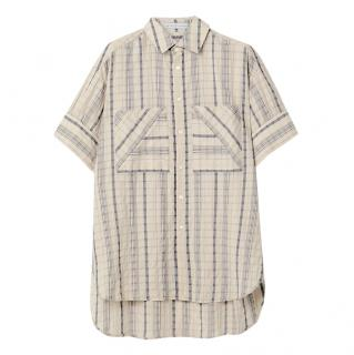 Palmer/Harding oversized striped linen-blend Shirt