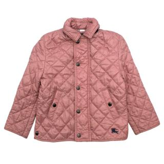 Burberry Pink Diamond Quilted Padded Jacket