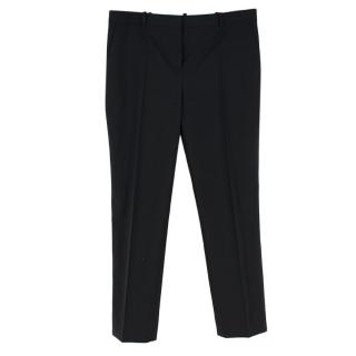Givenchy Black Wool Fitted Straight-Leg Trousers