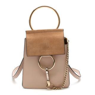 Chloe Faye Mini Suede-panel Leather Cross-body Bag