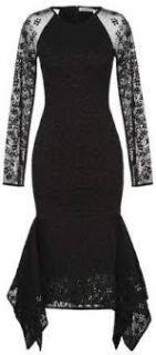 Opening Ceremony black sequin embellished midi dress