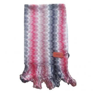 Missoni cotton blend zig zag pattern scarf