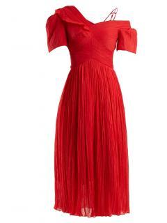 Preen by Thornton Bregazzi Red Cyra silk dress