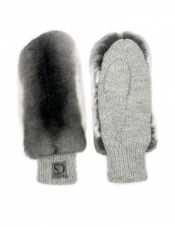 FurbySD Chinchilla Fur Mittens