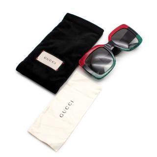 Gucci Square Pop Web Logo Sunglasses