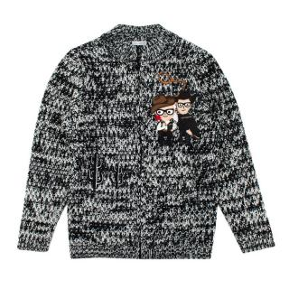 Dolce and Gabbana Monochrome Knit Embroidered Jumper