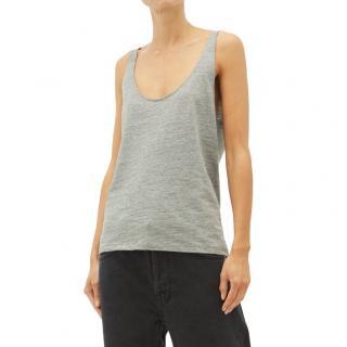 Raey Grey Skinny-strap cotton-jersey vest