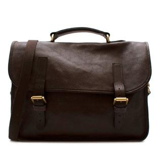Mulberry Oxblood Chiltern Strapped Briefcase