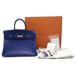 Hermes Blue Electric/Mykono Candy Epsom Birkin 35