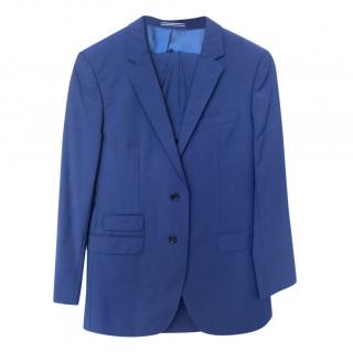 Tommy Hilfiger Blue Mens Single Breasted Suit