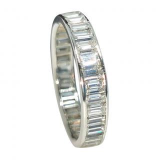 Bespoke baguettes  diamond full eternity ring