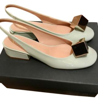 Mulberry lime leather sling back sandals