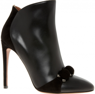 Alaia black BOMBE studded ankle boots
