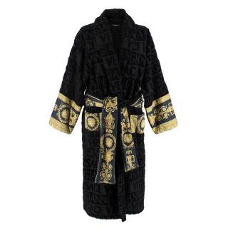 Versace Home Black Baroque Bathrobe