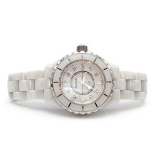 Chanel White J12 Diamond Ceramic Watch
