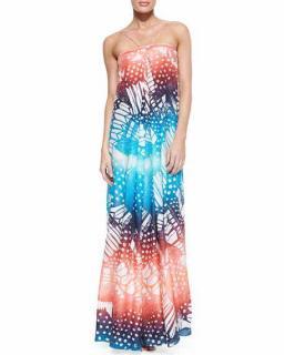 Diane Von Furstenberg Oasis Print Annie Maxi Dress