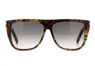 Saint Laurent Tortoiseshell Acetate Edgy Sunglasses