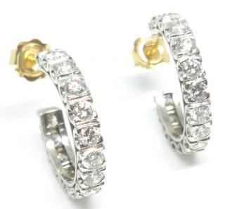Bespoke 4.5ct diamond and gold hoop earrings