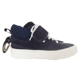 MSGM navy suede sneakers