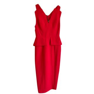 BCBG Max Azria red peplum dress