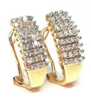 Bespoke diamond clip earrings