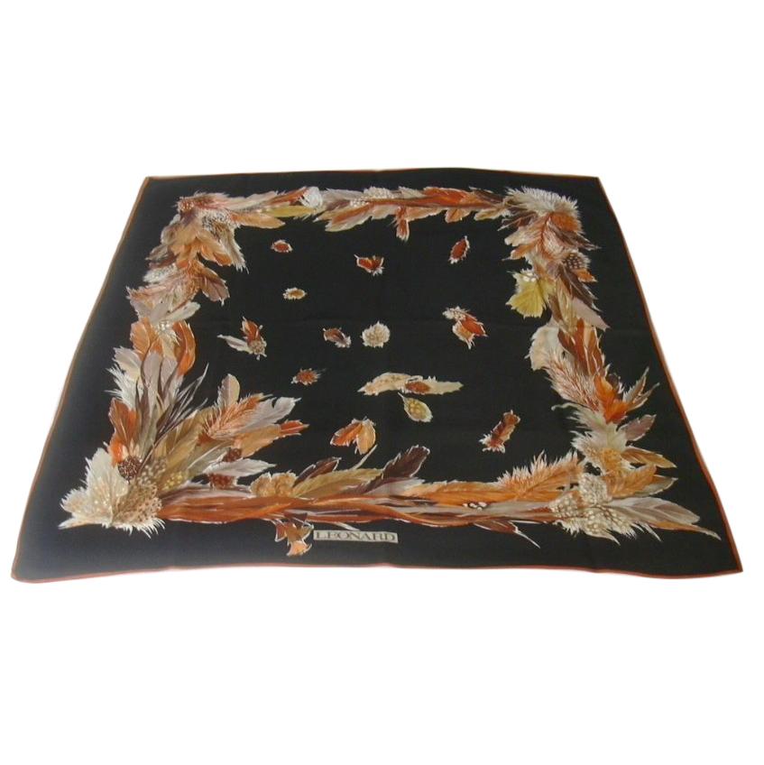 Leonard Paris black patterned scarf