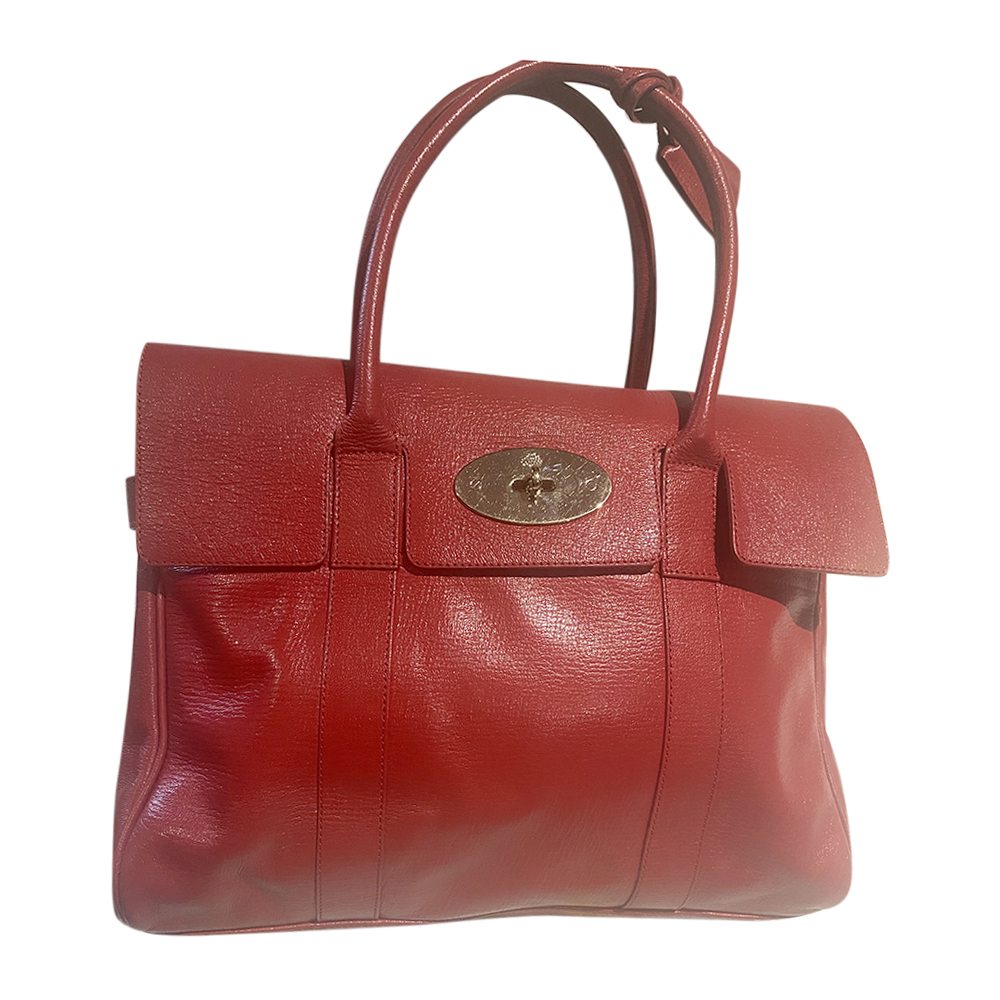 Mulberry Bayswater red leather shoulder bag