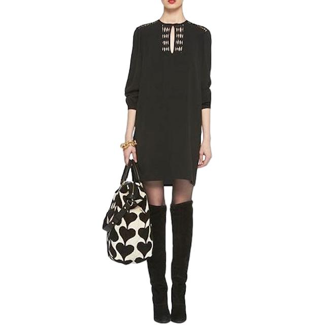 Diane von Furstenberg Florina shift black mini dress