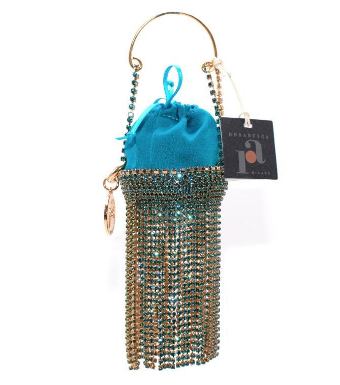 Rosantica Baby Ghizlan Mini crystal-embellished satin bag