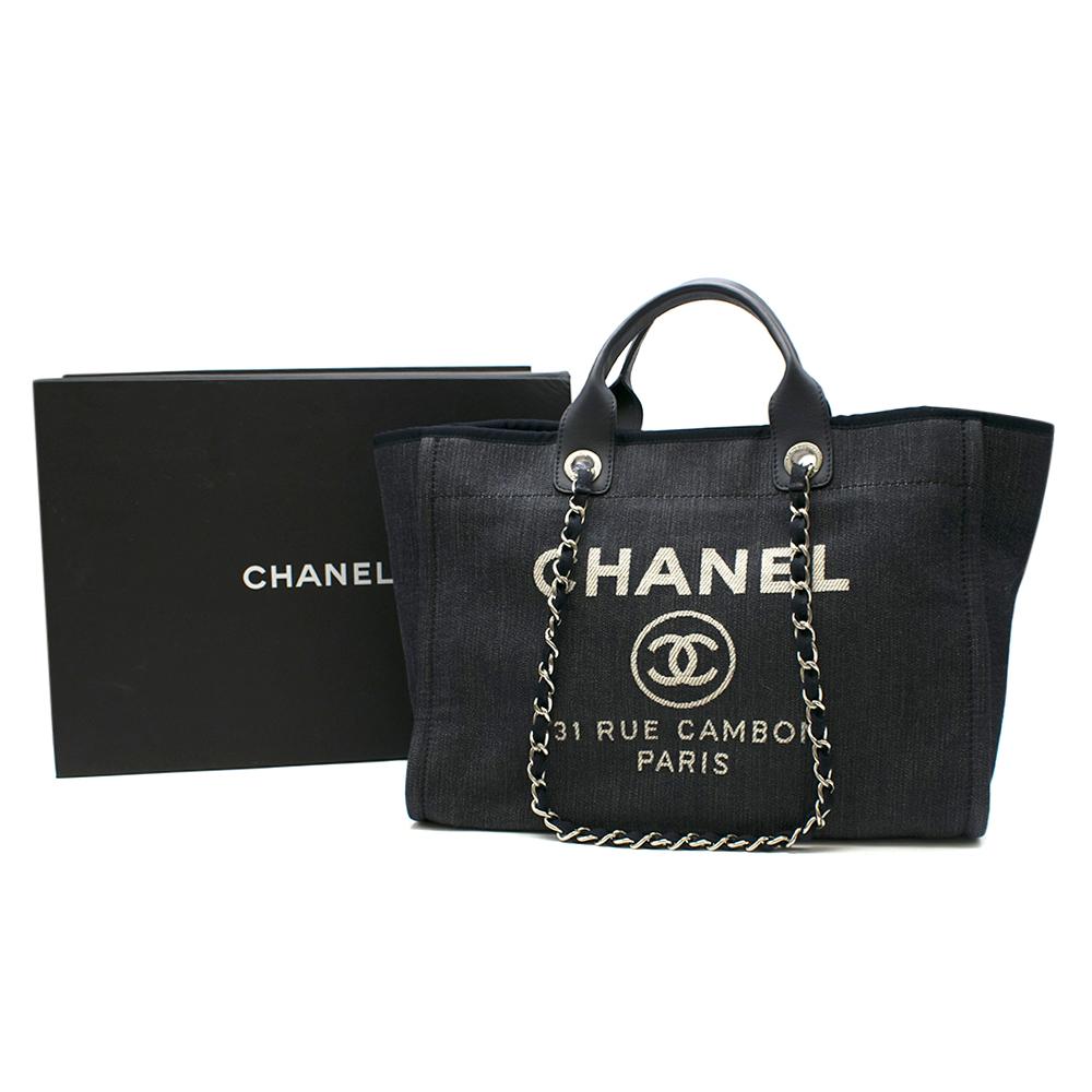 Chanel Deauville Denim Tote Bag