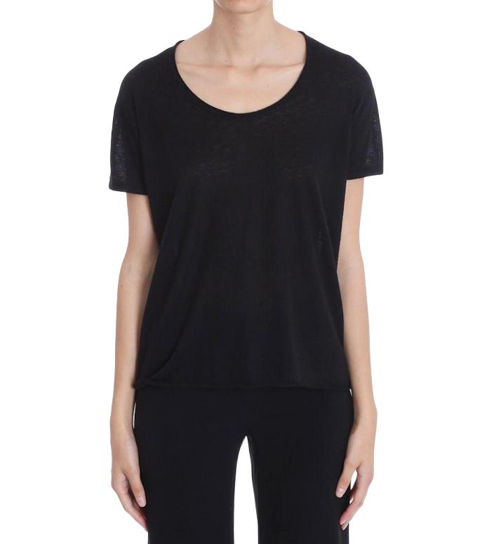 Theory Black Lightweight Cashmere T-Shirt