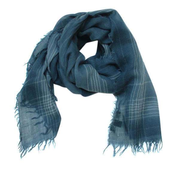 Max Mara Blue Wool Shawl