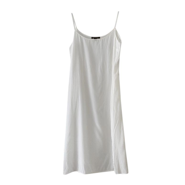 Louis Vuitton White Silk Slip Dress