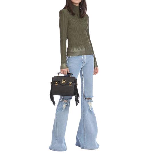 Balmain Olive Cashmere & Sweater Khaki Jumper