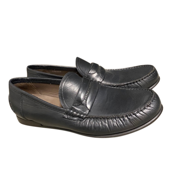 Dolce & Gabbana men's classic black leather moccasins
