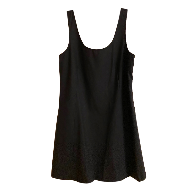 Theory Black Wool Blend Mini Dress