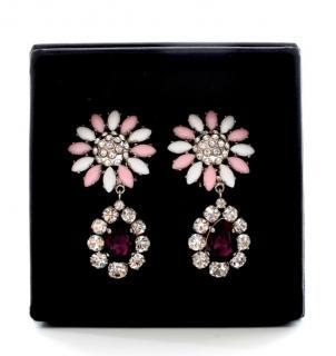 Miu Miu Flower Crystal Earrings