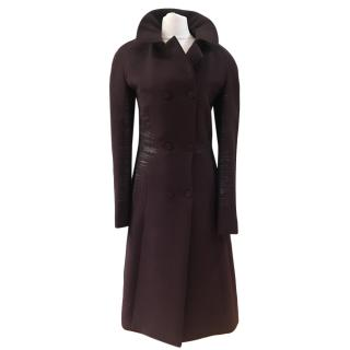 Bottega Veneta plum Wool Coat